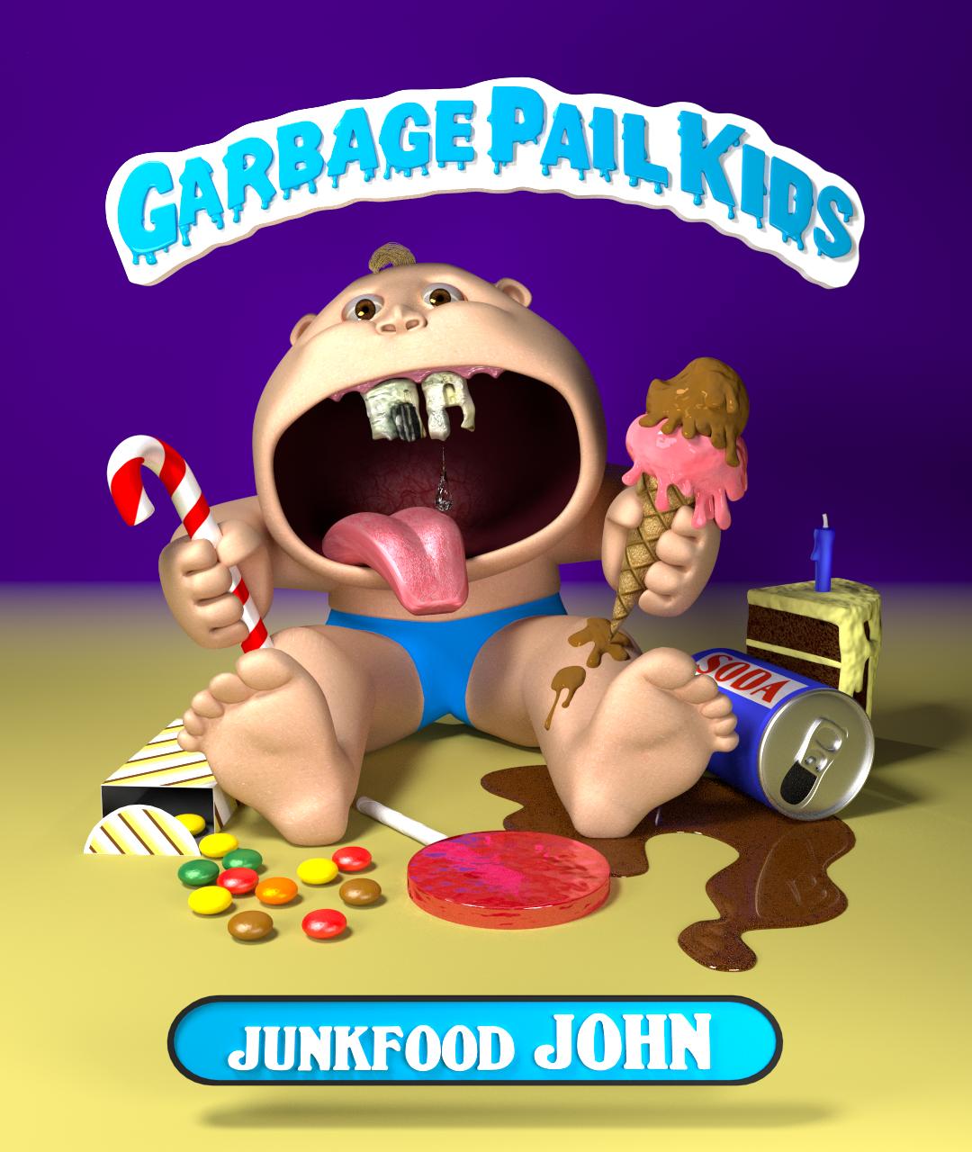 Garbage Pail Kids - Junkfood John